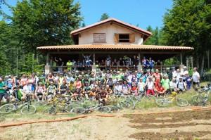 """Quasi duecento i bikers di """"Onda d'Urto"""" alla riscoperta delle bellezze paesaggistiche nel Parco delle Serre"""