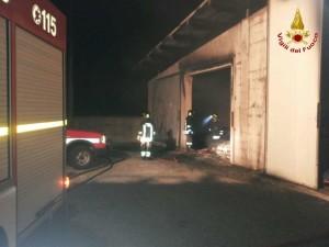 Incendio a Cortale, intervento dei Vigili del Fuoco