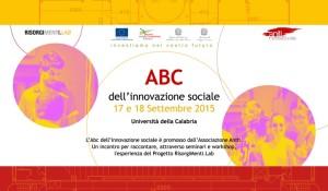 ABC dell'Innovazione Sociale il 17 e 18 Settembre all'Unical