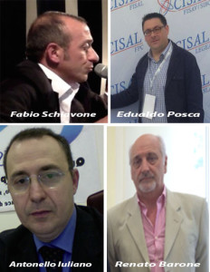 CISAL--Schiavone-Posca-Barone-Iuliano