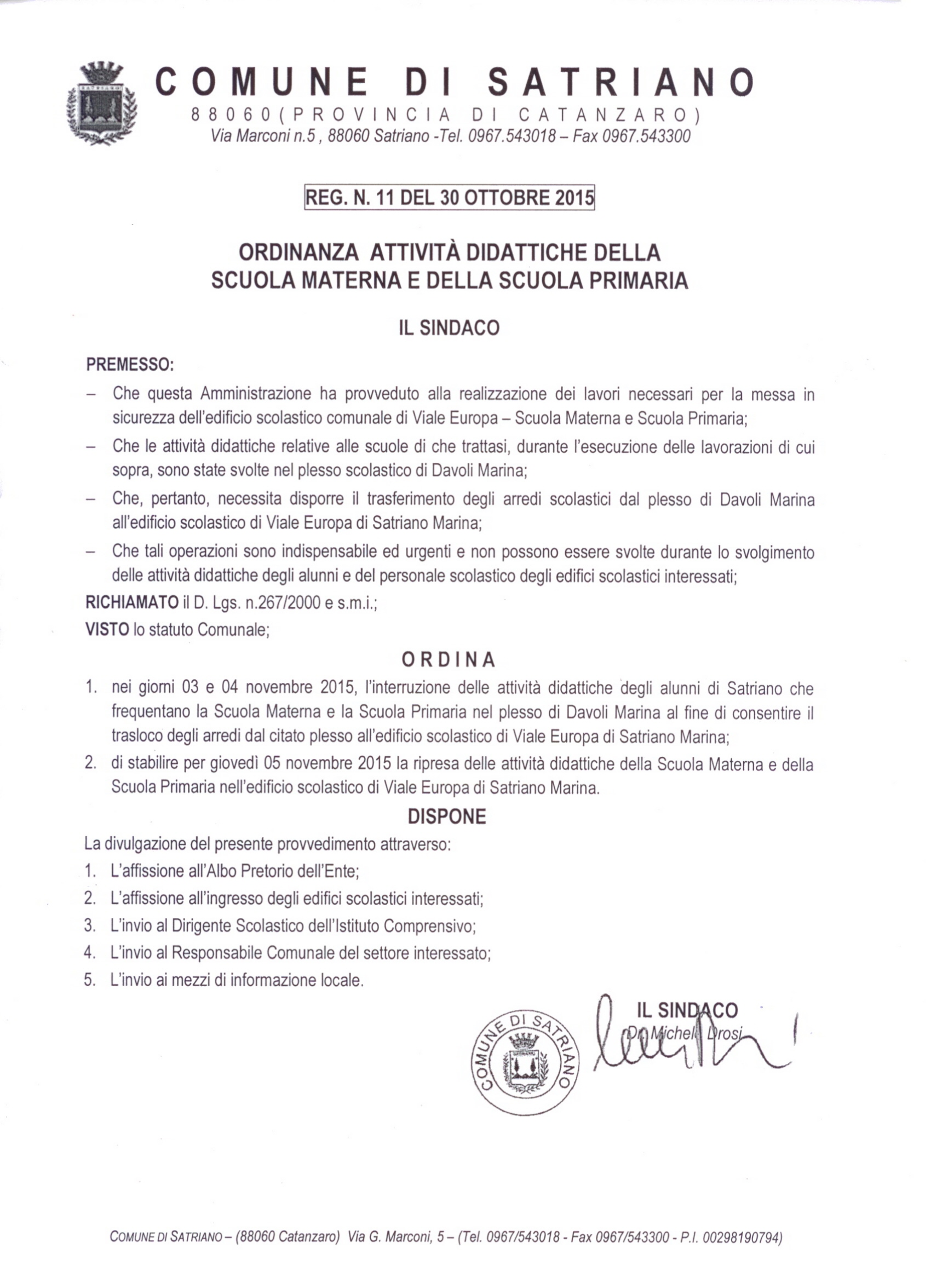 ord scuoa 30 oct 2015 sindacale