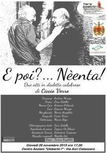 """Catanzaro – Al Centro Anziani """"Umberto I"""" è di scena la prosa"""