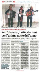 Cultura, le antiche tradizioni di San Silvestro in Calabria