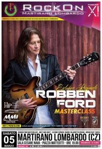 Sabato 5 Marzo a Martirano Lombardo Masterclass del chitarrista Robben Ford