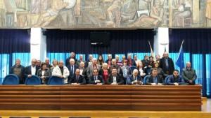 Il Presidente della Provincia di Catanzaro, Enzo Bruno, saluta 45 dipendenti dell'amministrazione da domani collocati a riposo