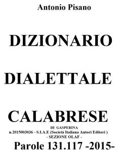 Dizionario dialettale calabrese di Gasperina