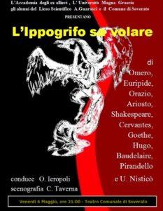 """Soverato – Teatro, venerdì 6 maggio """"L'Ippogrifo sa volare"""""""
