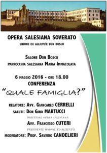 """Soverato – Venerdì 6 Maggio conferenza """"Quale Famiglia?"""""""