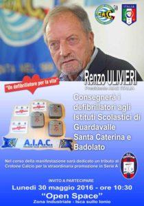 Consegna di tre defibrillatori alle scuole di Santa Caterina, Badolato e Guardavalle