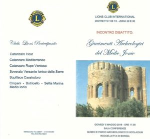 Giacimenti Archeologici, i Lions Clubs ne discutono con Dorina Bianchi