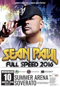 """Alla Summer Arena di Soverato ci sarà anche la """"Cheap Thrills"""" di Sean Paul"""