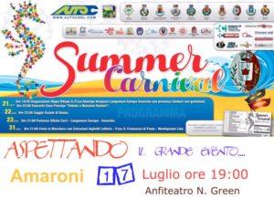 """Amaroni – Domenica 17 luglio """"Aspettando il Carnevale Estivo"""""""