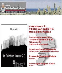 S. Andrea Jonio – Il 4 Agosto la presentazione del libro di Filippo Veltri
