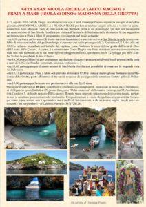 Si ripete il 22 Agosto la gita da Soverato a San Nicola Arcella e Isola di Dino