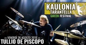 Tullio De Piscopo al Kaulonia Tarantella Green Festival il 26 agosto