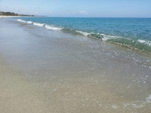 Venti chilometri di spiaggia quasi deserta
