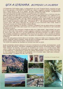 Domenica 25 Settembre gita a Cerchiara di Calabria con partenza da Soverato