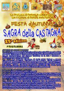 Pentone – Il 29 e 30 ottobre la Sagra della Castagna – Festa d'Autunno