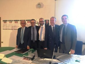 Da destra: Occhiuto, Laratta, Abenavoli, Morelli e Falzea