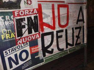Forza Nuova: mobilitazione NO Renzi!