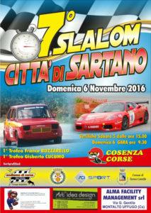 Domenica 6 Novembre il settimo Slalom Città di Sartano