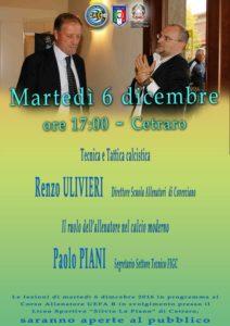 Renzo Ulivieri e Paolo Piani in Calabria per la presentazione di un progetto con le scuole