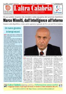 Il calabrese Marco Minniti ministro dell'Interno nel governo Gentiloni