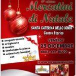 """Santa Caterina dello Jonio – Venerdì 23 Dicembre i """"Mercatini di Natale"""""""