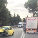 Incidente stradale nei pressi della Galleria di Copanello