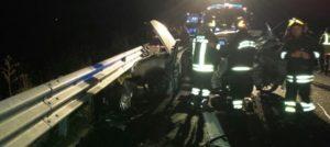 Quattro auto coinvolte in un incidente stradale a Germaneto, un morto