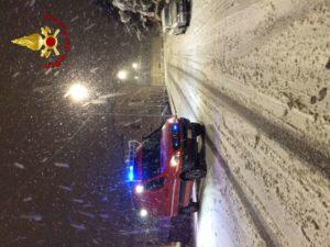 Neve nel catanzarese, tanti gli interventi dei vigili del fuoco