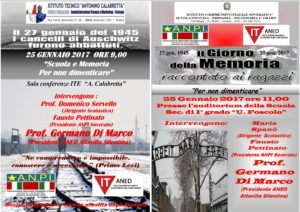 Iniziative dell'ANPI per la Giornata della Memoria