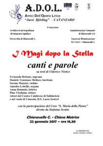 """Chiaravalle – Domenica 22 Gennaio """"I Magi dopo la Stella"""""""