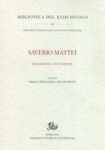 Il 25 Gennaio la presentazione a Napoli dell'ultimo volume su Saverio Mattei di Montepaone