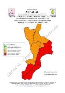 Allerta Meteo Rossa della Protezione Civile per la Calabria Jonica