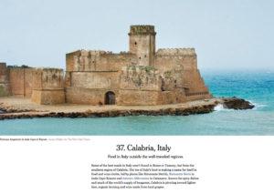 New York Times, Calabria e turismo
