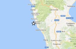 Scossa di terremoto magnitudo 3.1 in Calabria