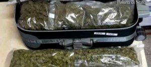 Marijuana in trolley tra la Calabria e la Sicilia, arrestato quinto giovane