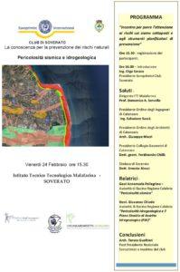 Soverato – Venerdì 24 Febbraio incontro per la prevenzione dei rischi naturali