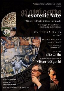 """Teatro Soverato – Giovedì 23 febbraio in scena """"Esotericarte"""" con Elio Crifò e Vittorio Sgarbi"""