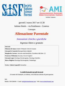 L'AMI Calabria parla degli aspetti nefasti dell'Alienazione Parentale e illustra le innovazioni cliniche e giuridiche