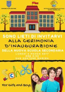 San Sostene – Inaugurazione della nuova Scuola Secondaria