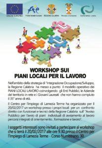 Workshop sui Piani locali del lavoro a Lamezia Terme