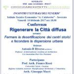 """Soverato – Venerdì 10 Febbraio la conferenza """"Rigenerare la Città diffusa"""""""
