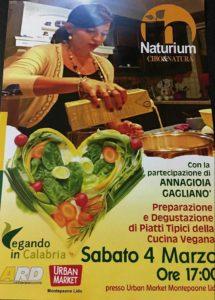 Settimana vegan per il progetto culturale Naturium con la cucina di Annagioia Gaglianò