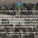 Il Comune di Gasperina indice un concorso interdisciplinare sui migranti
