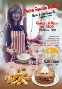 Naturium propone le squisitezze naturali in cucina con  la chef fitness trainer Maria Enrica Costabile
