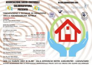 """Catanzaro – Incontro """"Prevenzione e tecniche di riduzione della vulnerabilità sismica"""""""