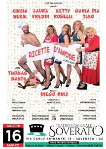 """Teatro Soverato – Giovedi 16 marzo """"Ricette d'Amore"""""""