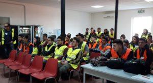 Gli studenti dell'Istituto Tecnico per Geometri di San Giovanni in Fiore in visita al cantiere Anas